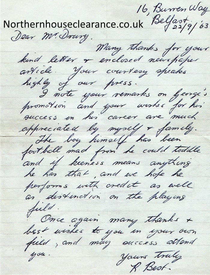 George Best Letter